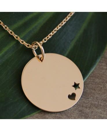 Je t'Ador : médaille étoile cœur