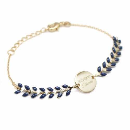 Bracelet chaîne épis plaqué or - Petits Trésors