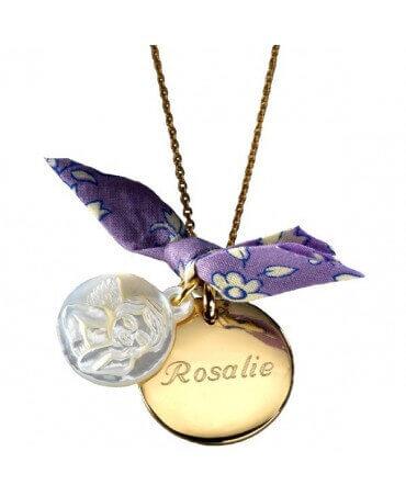 Petits Trésors : pendentif Ange plaqué or