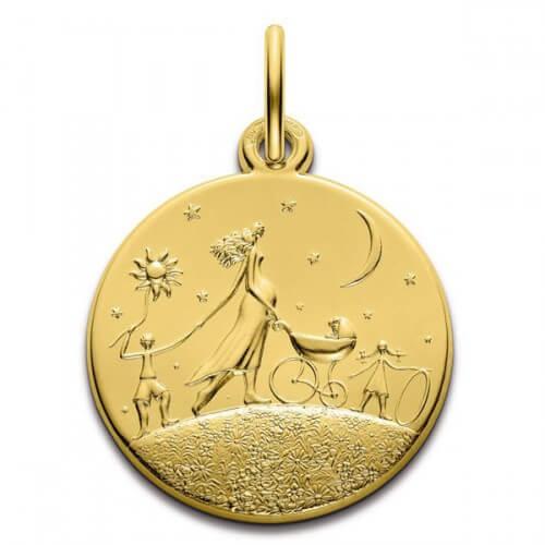 Monnaie de Paris : médaille Ronde de la Vie (or jaune) 18 mm