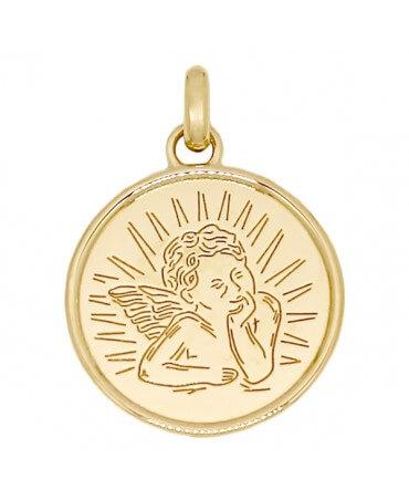 Médaille Ange Raphaël liseret - Poinçon 22