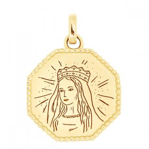 Médaille Vierge Couronnée - Poinçon 22