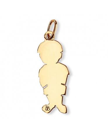 La Fa Mi : pendentif garçon (or jaune ou or blanc)