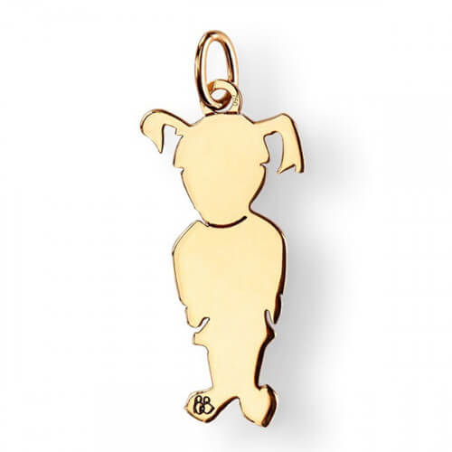 La Fa Mi : pendentif fille (or jaune ou or blanc)