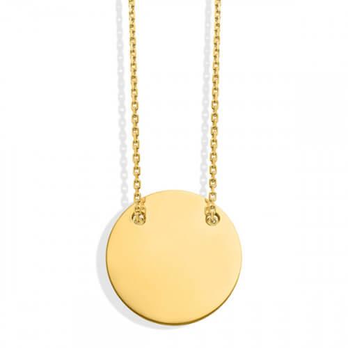 Collier médaille à graver en or jaune - Monnaie de Paris