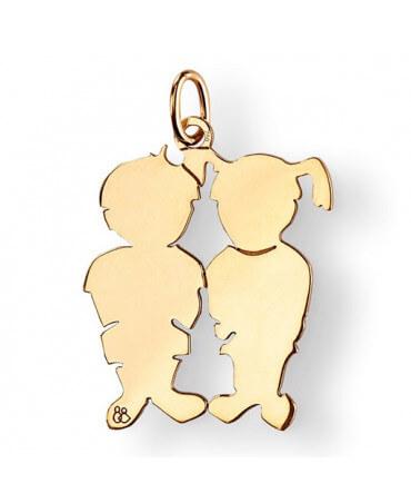 La Fa Mi : pendentif jumeaux (or jaune)