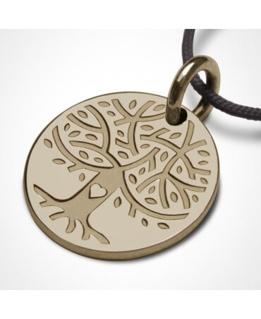 Médaille Love Tree or jaune - Mikado