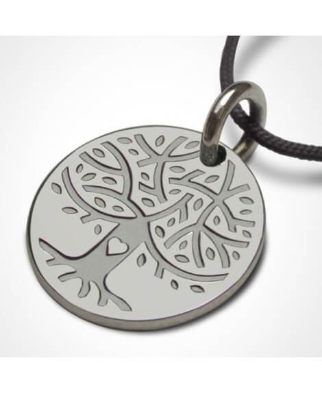 Médaille Love Tree or blanc - Mikado