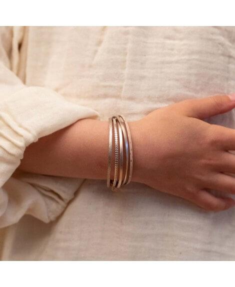 FlowersForZoé : bracelet enfant cuir mini multiliens