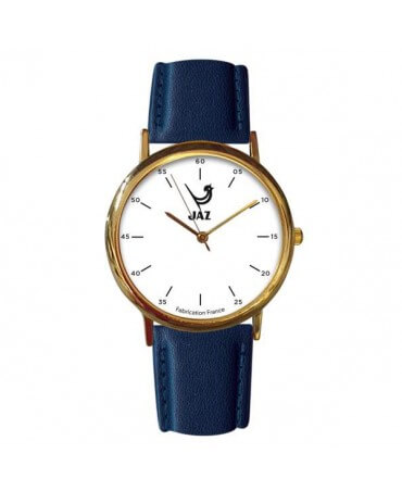 montre JAZ Pragmatic blanche bracelet bleu