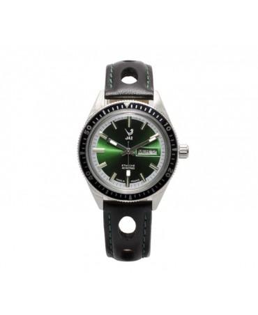 Montre JAZ Aquatic cadran vert bracelet noir