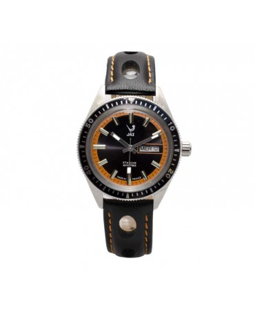 Montre JAZ Aquatic cadran orange bracelet noir
