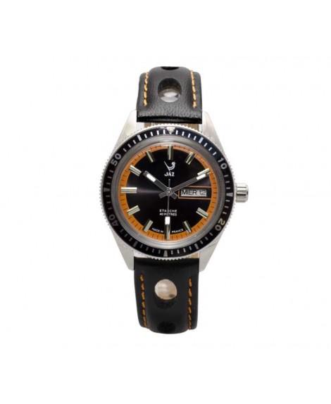 Montre JAZ Aquatic cadran orange bracelet noir