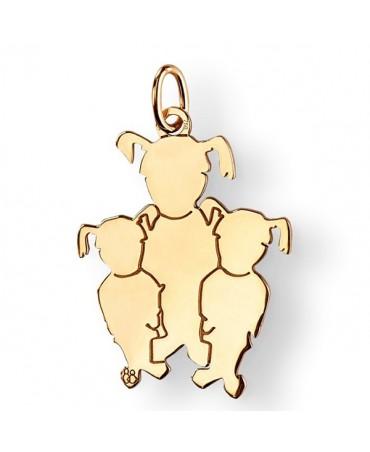 La Fa Mi : pendentif 3 enfants (or jaune)