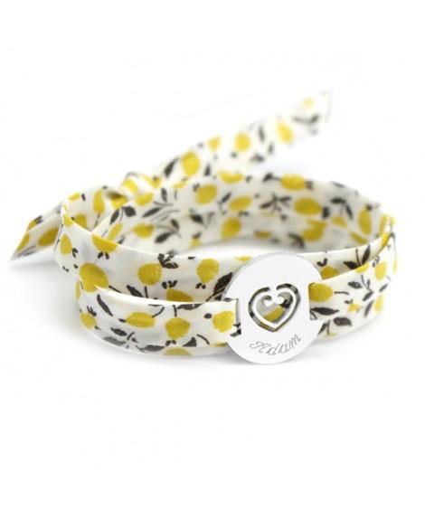 Petits trésors : bracelet liberty coeur sacré argent