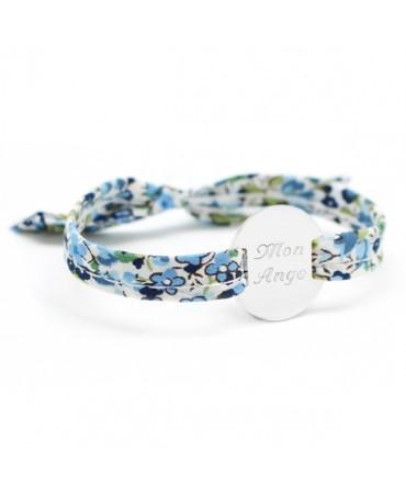 Petits trésors : bracelet liberty médaille personnalisable argent