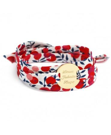 Petits trésors : bracelet liberty médaille personnalisable plaqué or