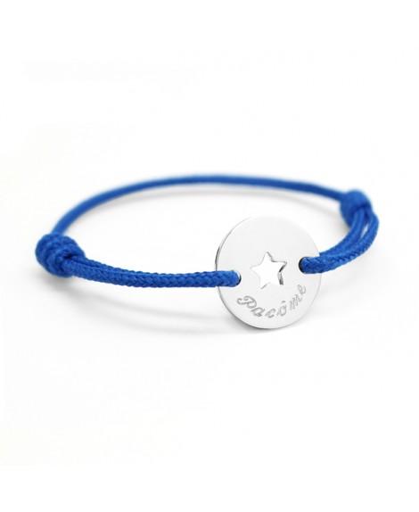 Petits Trésors : bracelet mini jeton étoile en argent