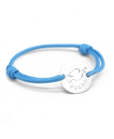 Petits trésors : bracelet mini jeton colombe