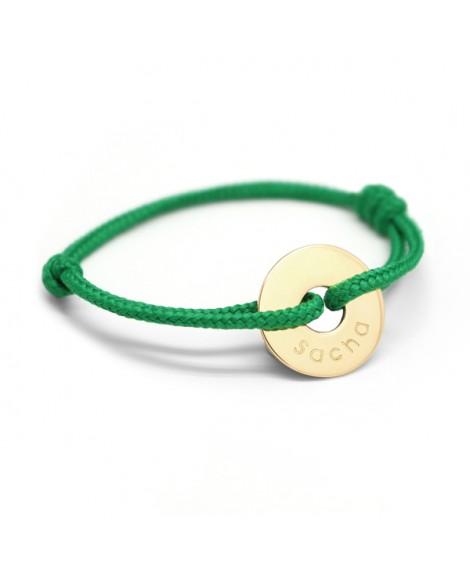 Petits Trésors : bracelet mini jeton plaqué or
