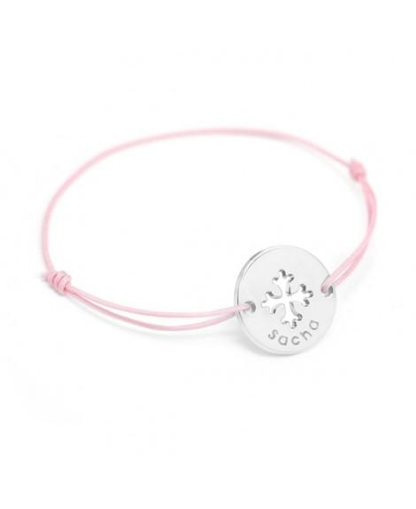 Petits Trésors : bracelet mini jeton Croix Occitane argent