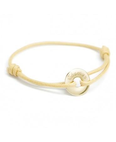 Petits Trésors : bracelet mini jeton or jaune