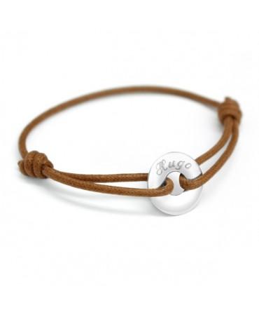 Petits Trésors : bracelet mini jeton or blanc
