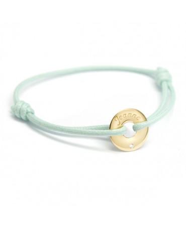 Petits Trésors : bracelet mini jeton or jaune et diamant