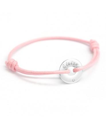 Petits Trésors : bracelet mini jeton or blanc et diamant