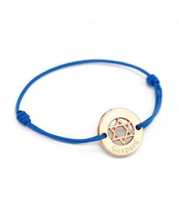 Petits trésors : bracelet étoile David plaqué or