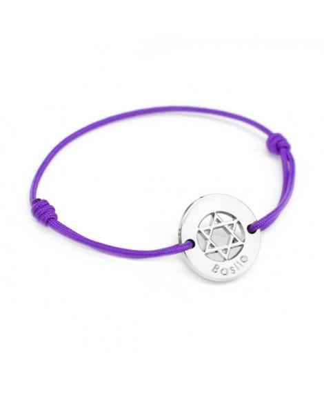 Petits trésors : bracelet étoile david argent