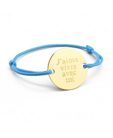 Petits trésors : bracelet family plaqué or