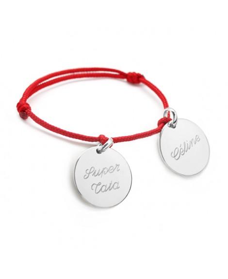 Petits Trésors : bracelet médailles argent à personnaliser