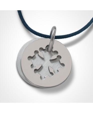 Médaille croix occitane argent - Mikado