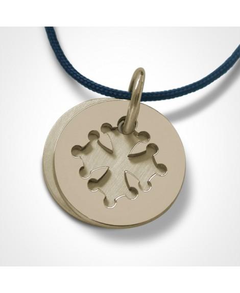 Médaille croix occitane or jaune - Mikado