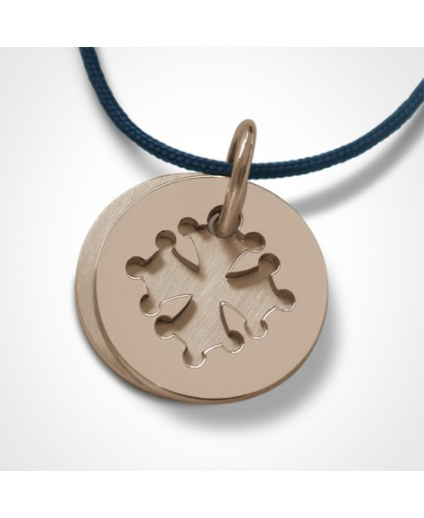 Médaille croix occitane or rose - Mikado