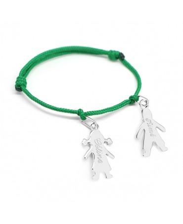 Petits trésors : bracelet chérubin personnalisé argent