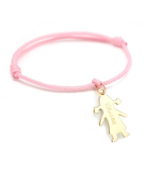 Petits trésors : bracelet chérubin personnalisé plaqué or