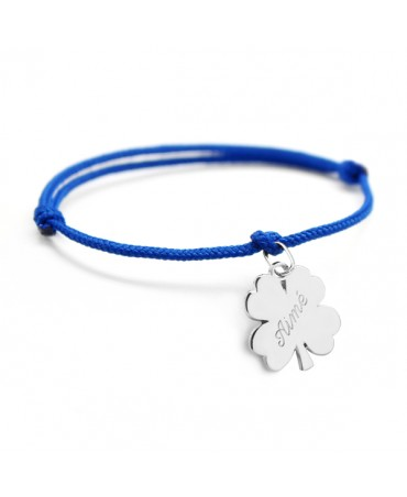 Petits trésors : bracelet lucky trèfle argent
