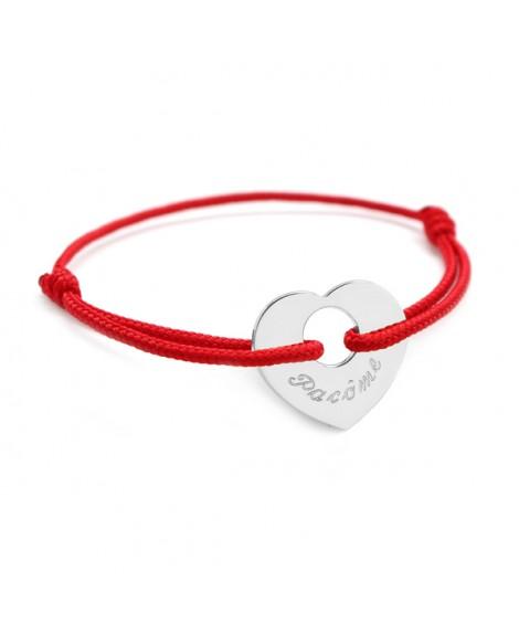 Petits Trésors : bracelet à cœur de peau argent