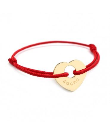 Petits Trésors : bracelet à cœur de peau plaqué or