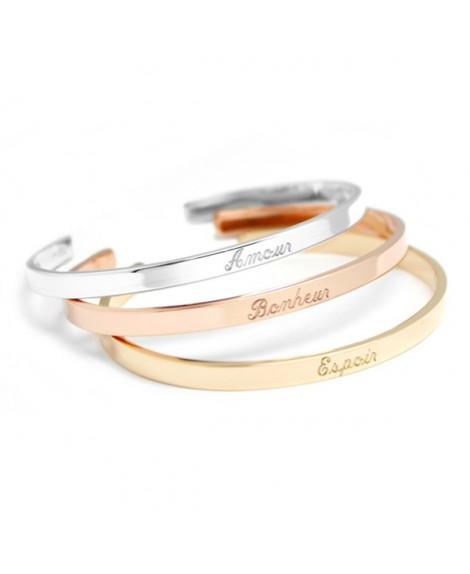 Petits Trésors : bracelets jonc trio