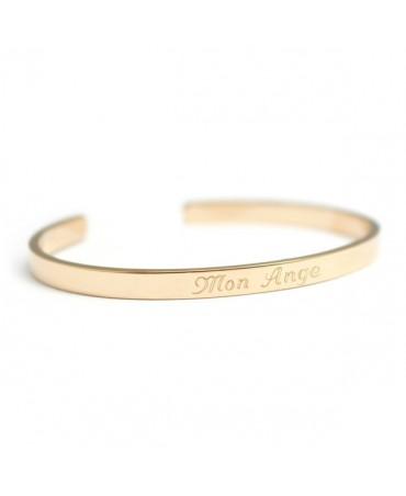 Petits Trésors : bracelet jonc solo (plaqué or jaune)