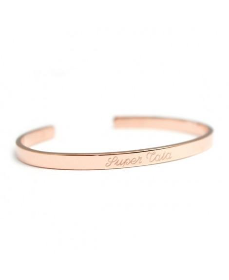 Petits Trésors : bracelet jonc solo (plaqué or rose)