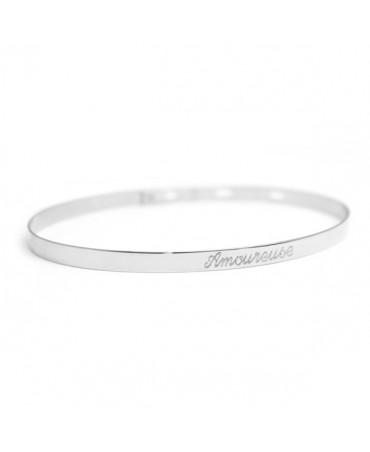 Bracelet jonc ruban argent - Petits Trésors