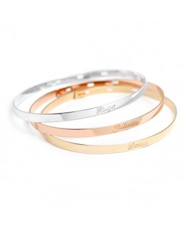 Trio de bracelets joncs ruban à graver
