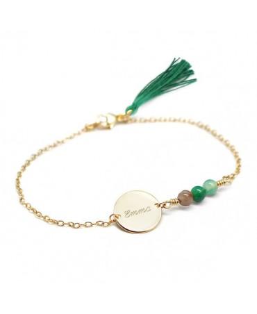Petits Trésors : bracelet Bahia plaqué or
