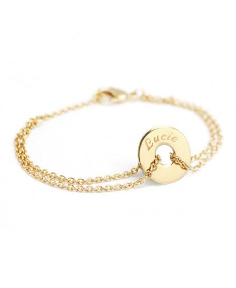 Petits Trésors : bracelet poème plaqué or
