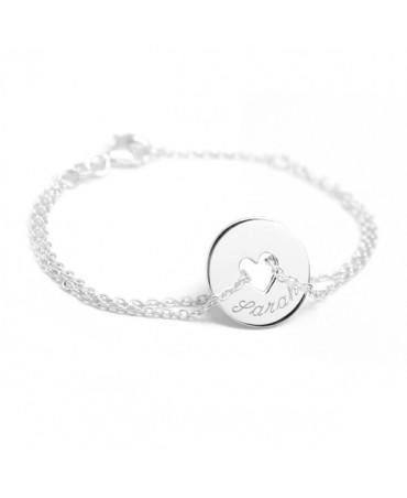 Petits Trésors : bracelet poème coeur argent