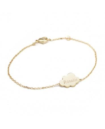 Bracelet chaîne nuage plaqué or - Petits Trésors